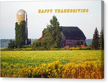 Happy Thanksgiving Canvas Print by Michael Peychich