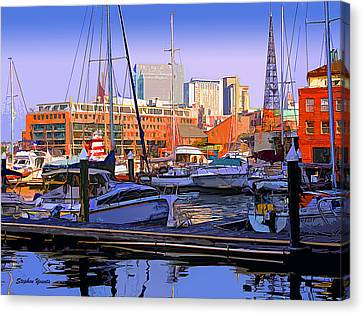 Harbor Morn Canvas Print by Stephen Younts