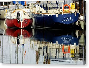 Harbor Reflections  Canvas Print by Bob Christopher
