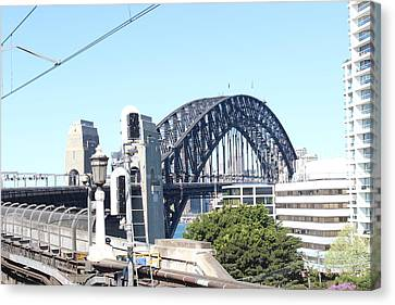 Harbour Bridge From Station Canvas Print