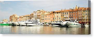 Harbour, St. Tropez, Cote D'azur, France Canvas Print by John Harper