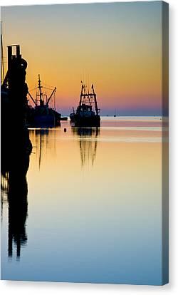 Harbour Sunrise Canvas Print by Trevor Chriss