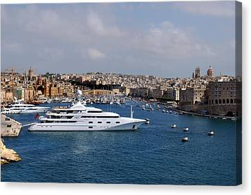 Harbour Valletta. Canvas Print by Terence Davis