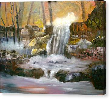 Hard Rock Falls Canvas Print