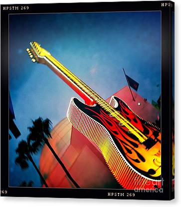Canvas Print featuring the photograph Hard Rock Guitar by Nina Prommer