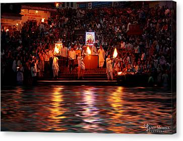 Haridwar Canvas Print by Aunit Sharma