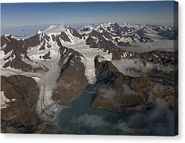 Harker And Hamberg Glacier Canvas Print by Ingo Arndt