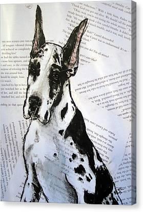 Harlequin Romance Puppy Canvas Print