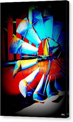 Harlequin Wind  Canvas Print by Diane montana Jansson
