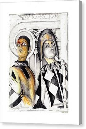 Harlequins Canvas Print by Bob Salo