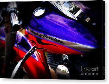 Harley Addiction Canvas Print by Susanne Van Hulst