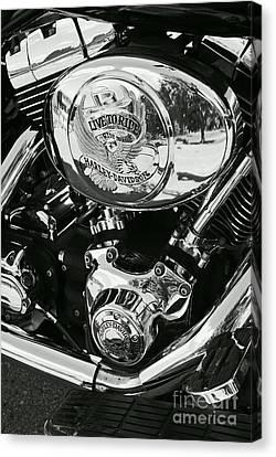 Harley Davidson Bike - Chrome Parts 02 Canvas Print