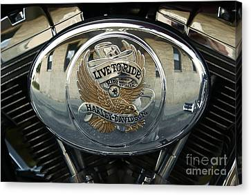 Harley Davidson Bike - Chrome Parts 44c Canvas Print