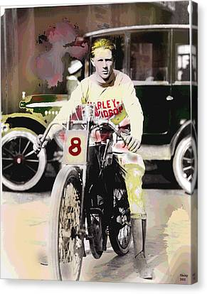 Harley Davidson Canvas Print by Charles Shoup