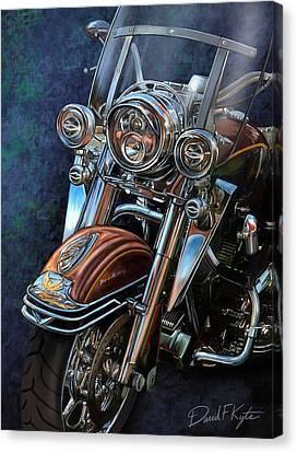Harley Davidson Ultra Classic Canvas Print by David Kyte