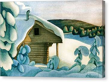Harold Price Cabin Canvas Print by Anne Havard