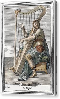 Harp, 1723 Canvas Print by Granger