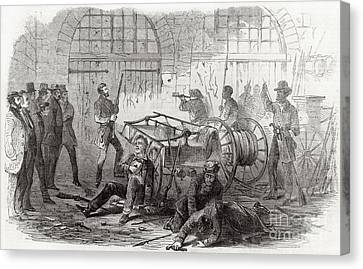 Abolitionist Canvas Print - Harpers Ferry Insurrection, 1859 by Photo Researchers