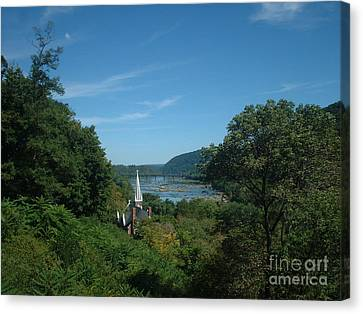 Harper's Ferry Long View Canvas Print by Mark Robbins