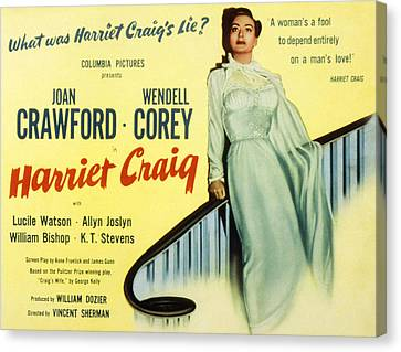 Harriet Craig, Joan Crawford, 1950 Canvas Print by Everett