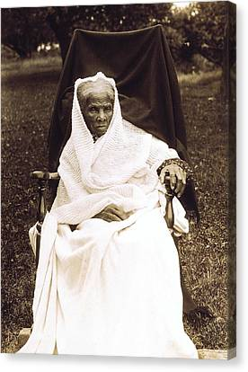 Harriet Tubman 1820-1913 In Old Age Canvas Print by Everett