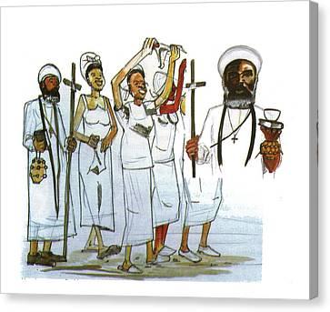Harris And His Followers Canvas Print by Emmanuel Baliyanga