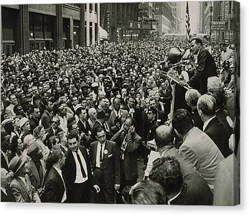 Harry Belafonte B. 1927 Speaking At An Canvas Print by Everett