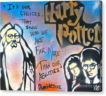 Harry Potter And  Dumbledore Canvas Print by Tony B Conscious
