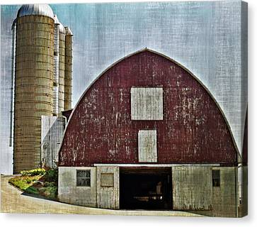 Harvest Barn Canvas Print by Kathy Jennings