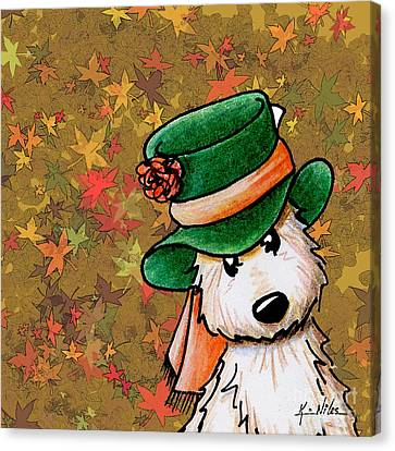 Mad Hatter Canvas Print - Hat Season Cairn Terrier by Kim Niles