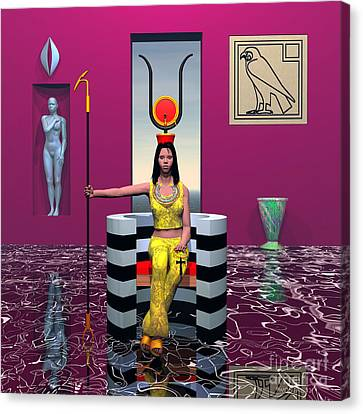 Hathor Canvas Print by Walter Oliver Neal