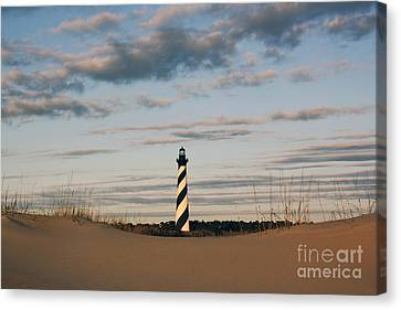 Hatteras Lighthouse And The Smiling Dune Canvas Print