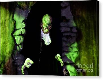 Haunted Butler Canvas Print by Darleen Stry