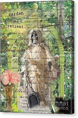 Haunted Garden Retreat Canvas Print by Ruby Cross
