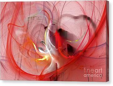 Canvas Print featuring the digital art Haunted Hearts by Victoria Harrington