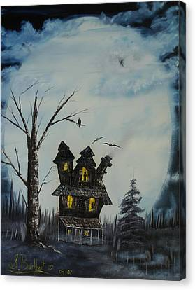 Haunted House 2007 Canvas Print by Shawna Burkhart