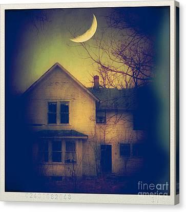 Haunted House Canvas Print by Jill Battaglia