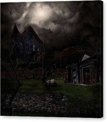 Haunted House Canvas Print by Lisa Evans