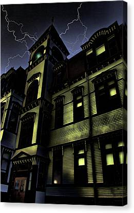 Haunted House Canvas Print by Mark Sellers