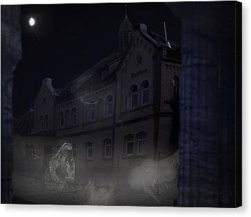 Haunted House Canvas Print by Nafets Nuarb