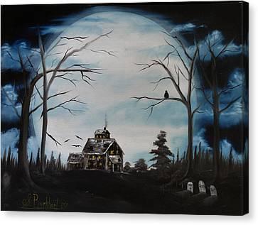Haunted Mansion 2006 Canvas Print by Shawna Burkhart