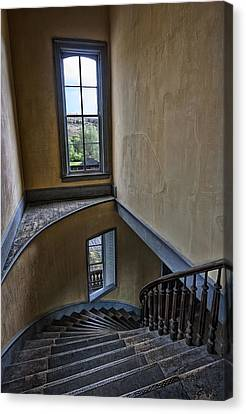 Haunted Meade Hotel Grand Staircase - Bannack Ghost Town - Montana Canvas Print by Daniel Hagerman