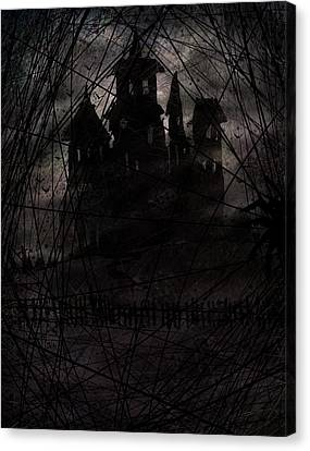 Haunted Canvas Print by Rachel Christine Nowicki