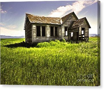 Haunted Shack In Idaho Canvas Print by Gregory Dyer