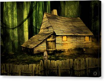 Haunted Shack Canvas Print by Lourry Legarde