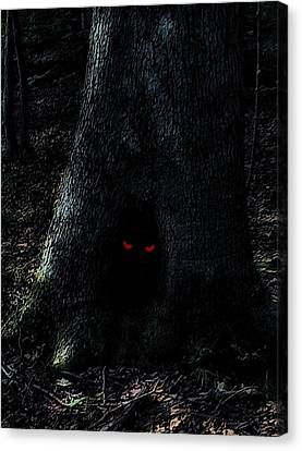 Haunted Tree Canvas Print by Walt Stoneburner