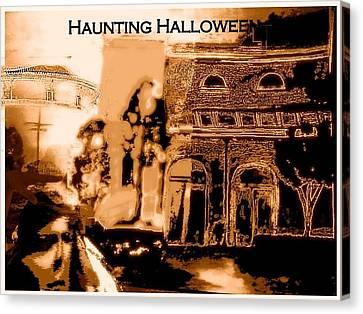 Haunting Halloween Canvas Print by Marian Hebert