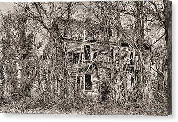Haunted House Canvas Print - Haunting In Delmarva by JC Findley