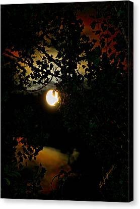 Canvas Print featuring the photograph Haunting Moon IIi by Jeanette C Landstrom
