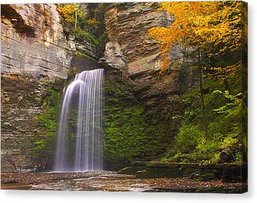 Havana Glen Waterfall Canvas Print